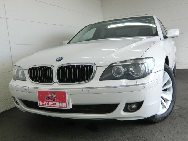 BMW 750i コンフォートpkg HDDナビ 黒革 サンルーフ
