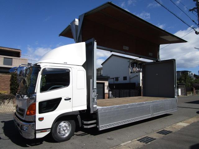 日野 レンジャー  アルミウイング ワイドロング 7.7Lターボ 内寸627x232x241 最大積載量2750キロ 車両総重量7960キロ BDG-FD8JLWA
