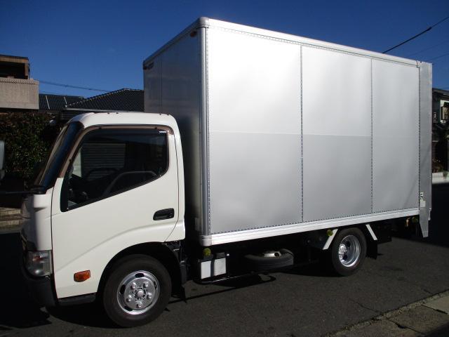 トヨタ トヨエース  アルミバン 垂直パワーゲート AT 5t免許 1.75t積載 内寸375x179x213 SKG-XZC645 4Lターボ AT 車両総重量4955キロ