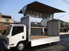 エルフトラック アルミウイング ワイドロング 2t積載 内寸437x209x224 SKG−NPR85AN 3Lターボ 6速 ワンオーナー 最大積載量2000キロ 車両総重量5605キロ