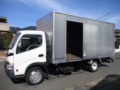 ダイナトラック アルミバン 引出パワーゲート ワイドロング 内寸454x209x207 観音ドア交換済み 2トン積載 記録簿 4Lターボ 6速 BKG−XZU414 最大積載量2000キロ 車両総重量5735キロ
