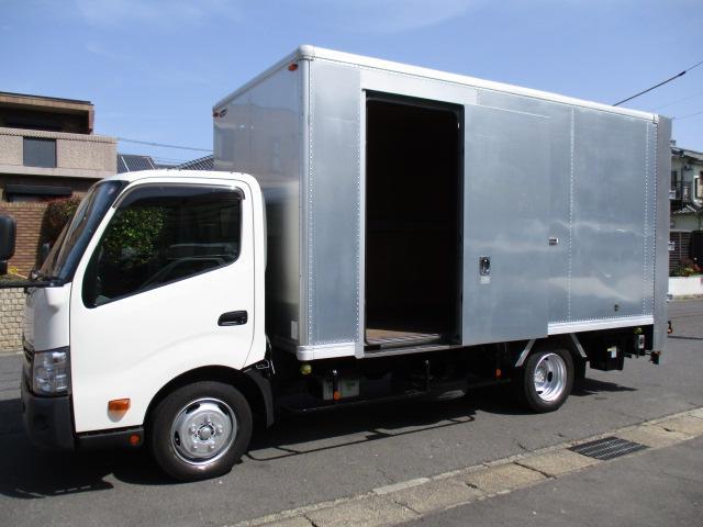 ダイナトラック  アルミバン 引出パワーゲート ワイドロング 内寸448x208x217 2トン積載 スライドドア 4Lターボ 5速 TKG-XZU710 最大積載量2000キロ 車両総重量5875キロ