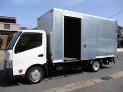 ダイナトラック アルミバン 引出パワーゲート ワイドロング 内寸448x208x217 2トン積載 スライドドア 4Lターボ 5速 TKG−XZU710 最大積載量2000キロ 車両総重量5875キロ