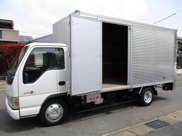 いすゞ エルフトラック  アルミバン ロング AT 2.7t積 内寸450x179x204 サイドドア交換済 KR-NKR81LV 4.8Lノンターボ 予備検2021年7月26日 最大積載量2700キロ 車両総重量6205キロ