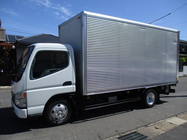 三菱ふそう キャンター  アルミバン マルチパワーゲート 排ガスマフラー 鉄板張り ロング 内寸440x177x207 KK-FE72EEV 5.2Lノンターボ 5速 最大積載量2000キロ 車両総重量5765キロ