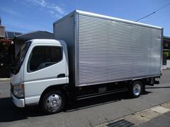 キャンター アルミバン マルチパワーゲート 排ガスマフラー 鉄板張り ロング 内寸440x177x207 KK−FE72EEV 5.2Lノンターボ 5速 最大積載量2000キロ 車両総重量5765キロ