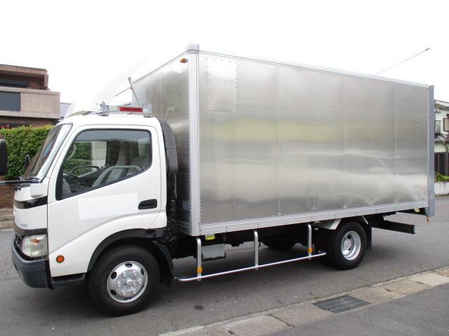 トヨエース  アルミバン ワイドロング シャッター 内寸464x209x204 4.9Lノンターボ 6速 KK-XZU411 準中型免許 7.5t免許  最大積載量2750キロ 車両総重量 7145キロ