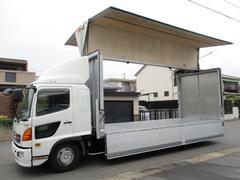 ヒノレンジャー アルミウイング ワイドロング 内寸628x240x242 鉄板張り 2.55t積 TKG−FD7JLAA 6.4Lターボ 6速 最大積載量2550キロ 車両総重量7980キロ