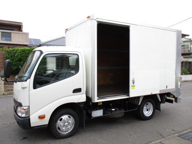 トヨタ ダイナトラック  アルミバン 垂直パワーゲート AT 内寸324x176x187 2トン積載 スライドドア 4Lターボ AT TKG-XZU605  最大積載量2000キロ 車両総重量5235キロ