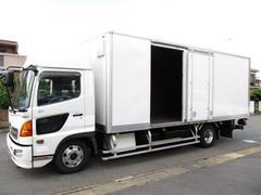 ヒノレンジャー アルミバン マルチパワーゲート ワイドロング 内寸624x236x224 ハイルーフ スライドドア交換済み BKG−FC7JKYA 6.4Lターボ 6速 最大積載量2850キロ 車両総重量7970キロ