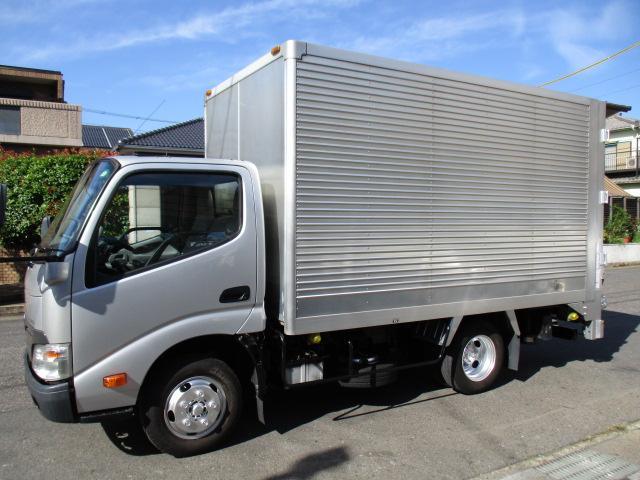 トヨタ トヨエース  アルミバン 垂直パワーゲート AT 5t免許 1.75t積載 内寸343x177x186 カメラ ETC TKG-XZC605 4Lターボ AT 最大積載量1750キロ 車両総重量4985キロ