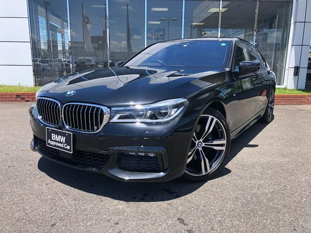 BMW 740i Mスポーツ 黒革 コンフォートシート 20AW ガラスSR 禁煙 ワンオナ