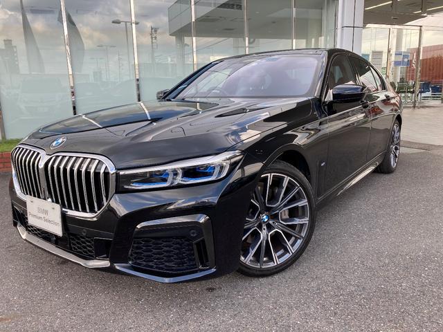 BMW 740d xDrive Mスポーツ レーザーライト ガラスサンルーフ ハーマンカードン 純正ナビ コンフォートシート レザーダッシュボード 20AW 禁煙 デモカー