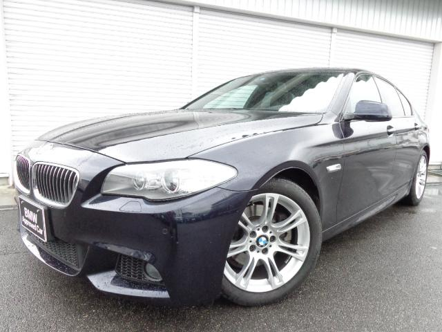 BMW 528i Mスポーツ黒革ウッドP左H禁煙1オナ認定中古車