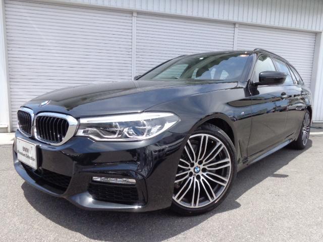 BMW 523dツーリングMスポーツ19AWハイライン黒革認定中古車