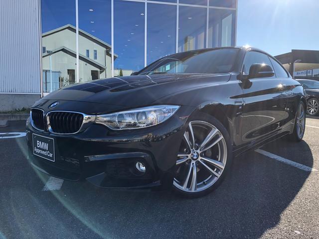 BMW 435iクーペ Mスポーツ 衝突軽減ブレーキ 19AW ブラックレザーシート 1オーナー 認定中古車