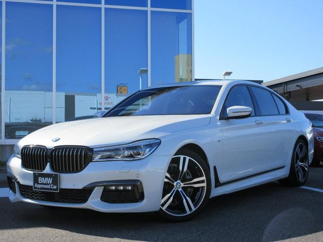 BMW 740i Mスポーツ レーザーヘッド 20AW 黒レザーシート ガラスサンルーフ ブラックグリル ACC ヘッドアップディスプレイ ハーマンカードン フルセグTV 禁煙 弊社ワンオーナー