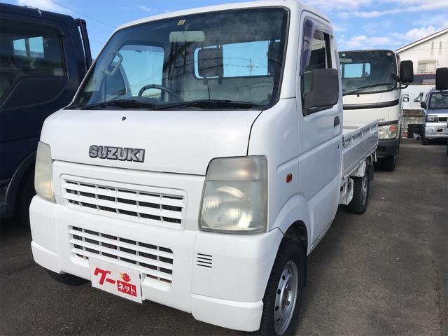 スズキ DX 最大積載350kg エアコン パワステ 軽トラック 2名乗り ホワイト