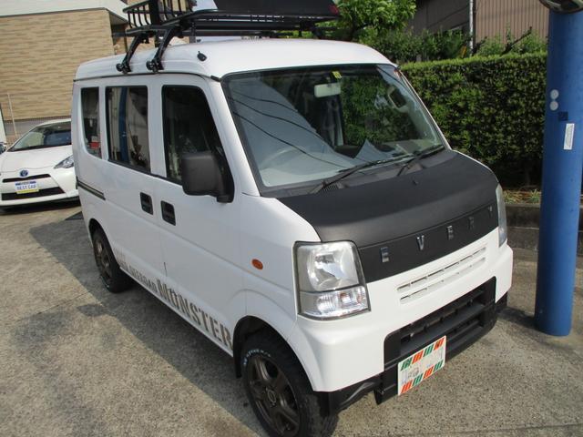 スズキ PA SDナビ ルーフキャリア 地区限定車 リフトアップ オフロードタイヤ 社外アルミ シートカバー