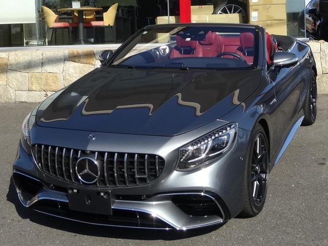 S63 4マチック+ カブリオレ 4WD ベージュ幌/赤革