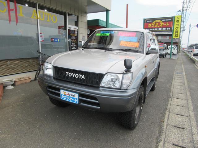 トヨタ ランドクルーザープラド TZ ディーゼルターボ 4WD 社外ナビ&フルセグTV&バックカメラ リフトアップ 社外キーレス付き