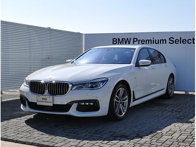 BMW 740i Mスポーツ デモカー 黒革 SR リモートP