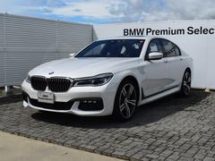 BMW740i Mスポーツ デモカー 黒革 SR ACC 20AW