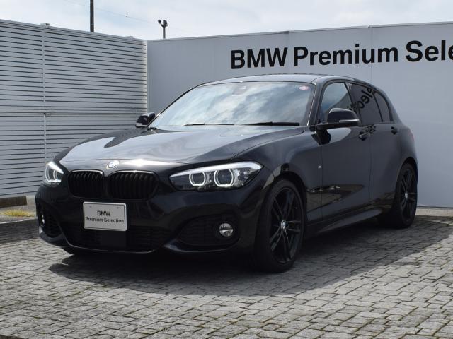 BMW 118i Mスポーツ エディションシャドー 限定車・エディションシャドー・ブラウンレザー・アクティブクルーズコントロール・パーキングアシスト・バックカメラ・Fシートヒータ-・前後PDC・社外品TVチューナー・18AW・LED