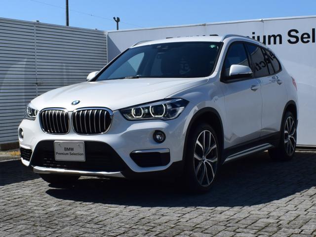 BMW X1 xDrive 18d xライン エコカー減税対象車・ブラックハーフレザー・アクティブクルーズコントロール・衝突軽減ブレーキ・ヘッドアップディスプレイ・フロントシートヒーター・社外TVチューナー・電動リアゲート・バックカメラ・19AW