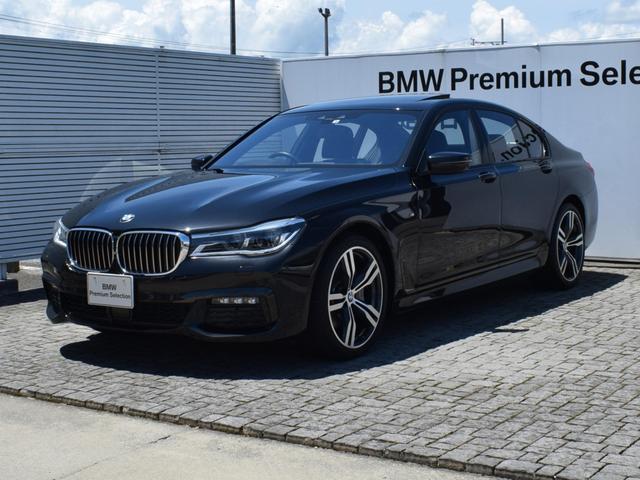 BMW 740d xDrive Mスポーツ 黒革 サンルーフ ドライバーアシストプラス ソフトクローズドア ヘッドアップディスプレイ ハーマンカードンサウンド 純正ナビ 全周囲カメラ FRシートヒーター リアローラーブラインド 20AW