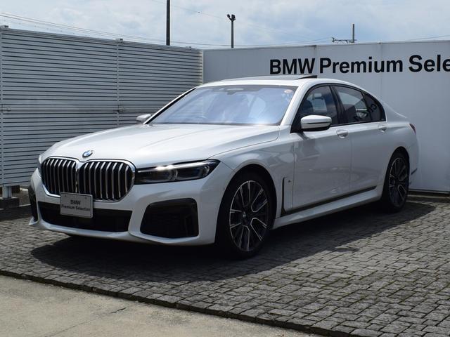 BMW 7シリーズ 740i Mスポーツ デモカー 黒革 サンルーフ エグゼクティブドライブプロ ソフトクローズドア パーキングアシストプラス FRシートヒータ ディスプレイキー ハーマンカードンサウンド 全周囲カメ レーザーライト 20AW