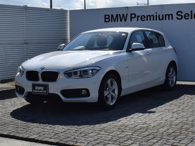 BMW 118d スポーツ 純正ナビ Bカメラ 後方PDC クルーズコントロール 衝突軽減ブレーキ SOSコール コンフォートアクセス CDスロット ミュージックサーバ Bluetooth/AUX/USB ETC2.0 16AW