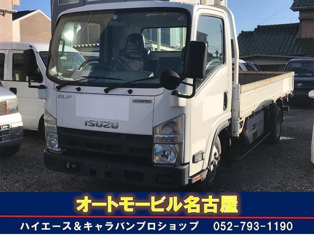 いすゞ エルフトラック  ロングフラットロー AC CVT ホワイト