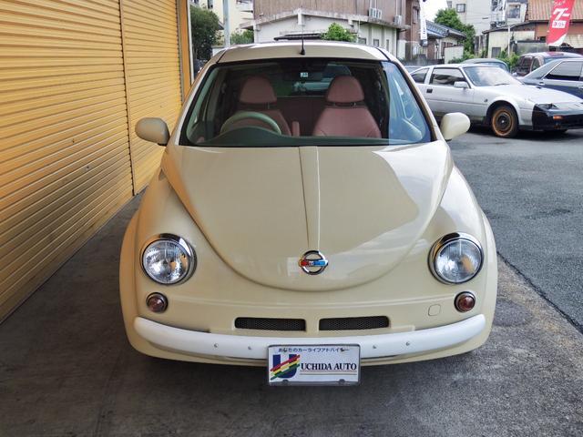 マーチ 12E ONEオーナー  Herbie(ハービー)仕様 キーレス ETC  レザー調シートカバー ウッド調パネル UVカットガラス Wエアバック 衝突安全ボディ- EBD