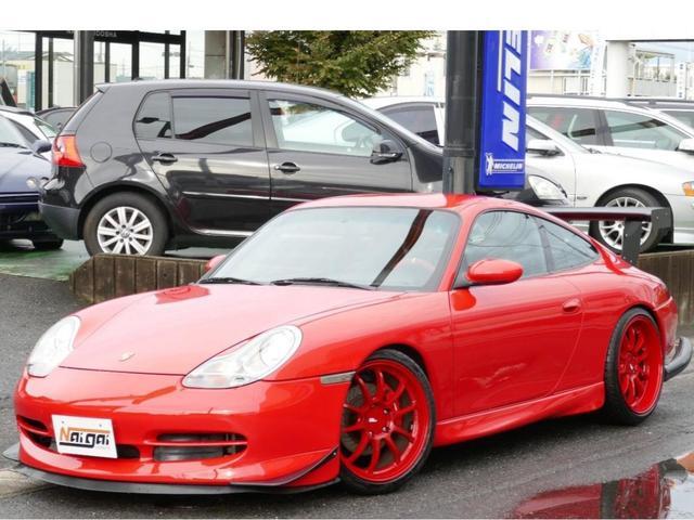 ポルシェ 911 911カレラ4 GT3仕様 ADVAN19AW 車高調 ワンオフマフラー グループMエアクリ Fカナードリップ キセノン レザー 社外パドルシフトステアリング 室内カーボンパネル フルセグナビTV ETC車載器