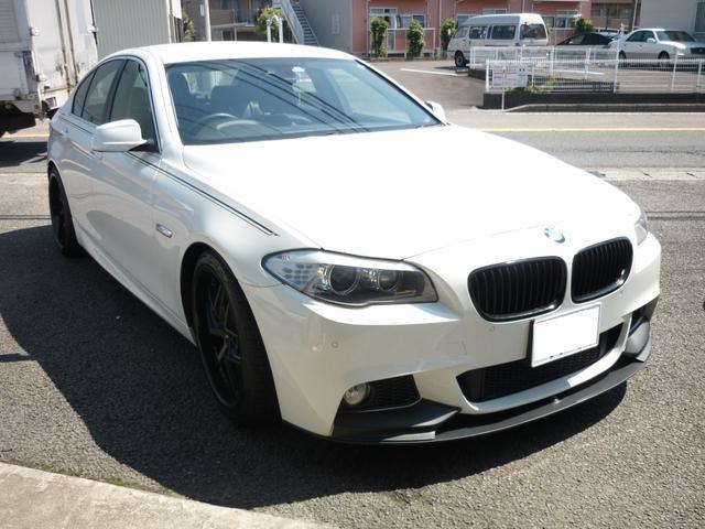 BMW 5シリーズ 523dブルーパフォーマンスハイラインパッケージ M5タイプエアロKIT NICHE VICE20インチアルミ 革シート HDDナビ バックカメラ ETC ローダウンサス