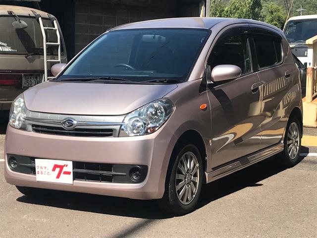 ダイハツ ミラカスタム X 新品タイヤ スマートキー ETC 車検整備付 CD