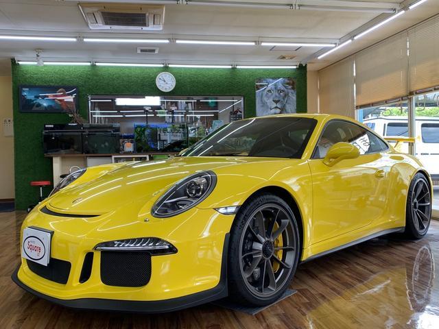 ポルシェ 911 911GT3 車両本体価格1400万円正規D車 スポーツクロノ&クラブスポーツパッケージ PCCBセラミックコンポジットブレーキ フロントリフト カーボンスポーツバケットシート&ロールバー記録簿プロテクションフィル