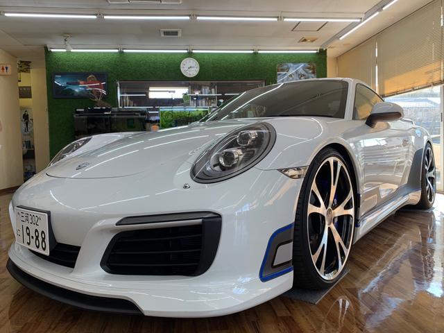 ポルシェ 911 911カレラS テックアートカスタム 21インチAW  マフラー スポーツクロノパッケージ Carbonブレーキ LEDヘッドライト BOSEサウンド GTステアリング前後ドラレコ
