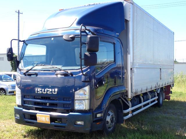 いすゞ  平成24年 SKG-FRR90T2 アルミウィング ベッド付き エアサス ワイドロング 日本フルハーフ 積載2800kg 2段ラッシング バックカメラ ETC 保証書・取説・記録簿 排気量5200cc