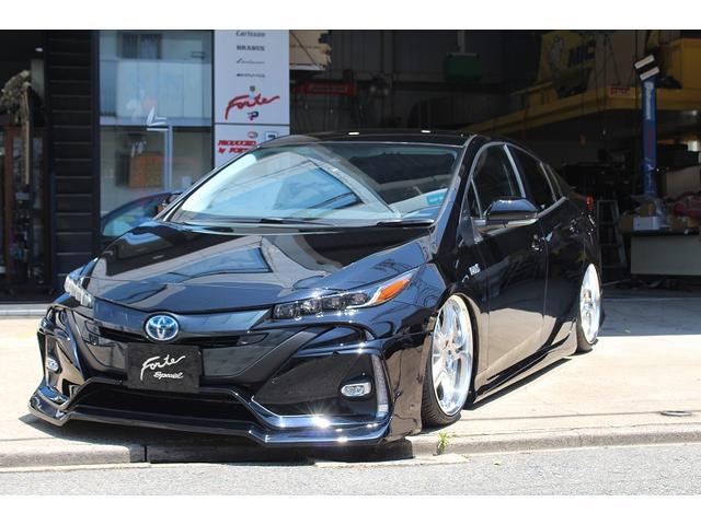 トヨタ プリウスPHV S 新車デザインワークスフルエアロコンプリート デザインワークスフルエアロ ブリッツ車高調 WORKグノーシス20インチ フロアマット ボディコーティング