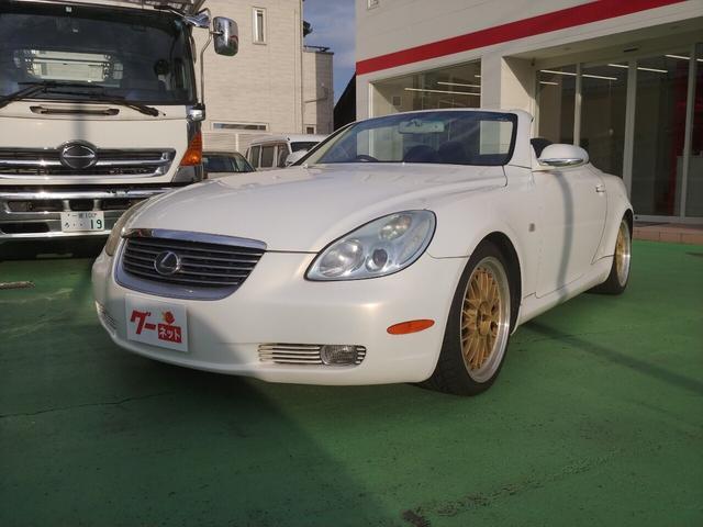 トヨタ 430SCV ナビ 革シート 電動オープン BBS18AW