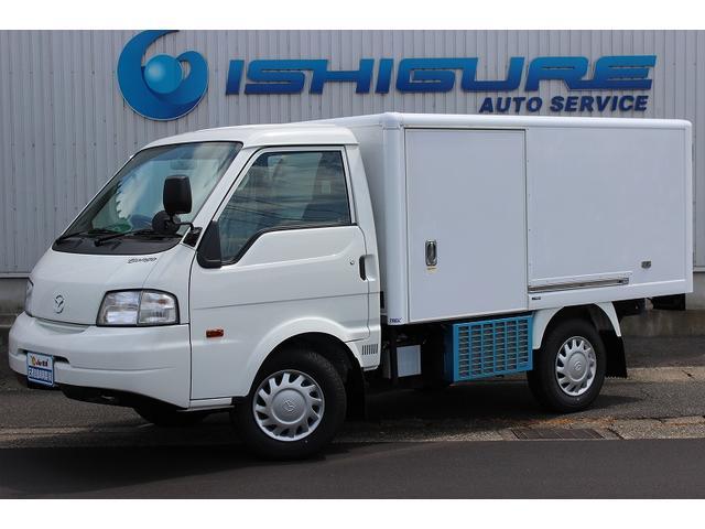 マツダ シングルワイドローDX ロングベース 冷蔵冷凍車(低温仕様) マイナス22℃設定 リヤ観音扉 左スライドドア 庫内カーテン付き スノコ付き