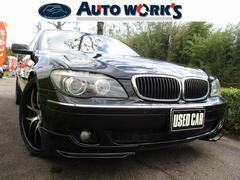 BMW740i 禁煙車 社外22アルミ 純正ナビ 革シート ETC