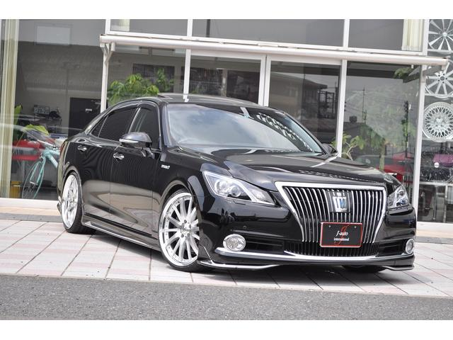 トヨタ Fバージョン 黒革 サンルーフ 新品車高調新品20インチ