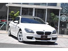 BMW640iグランクーペ 右H D車 黒革 MR HDDナビ