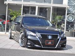 クラウンハイブリッドアスリートS SR 黒革 プリクラ 新品20アルミ車高調