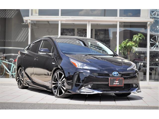 トヨタ プリウス S 新車 インテリジェントクリアランスソナー モデリスタアイコニック 19インチAW ローダウン 衝突回避支援 LEDヘッド LEDフォグ LEDデイライト