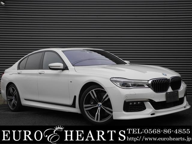 BMW 7シリーズ 750i Mスポーツ 左ハンドル サンルーフ 黒革シート バウワース&ウィルキンス 純正オプションスタイリング648M20インチAW 全周囲カメラ アダプティブクルーズ 地デジTV シートエアコン パワートランク