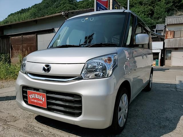 マツダ フレアワゴン XS ナビ Bluetooth バックカメラ デュアルカメラブレーキサポート 左パワースライドドア シートヒーター アイドリングストップ フロアマット新品付